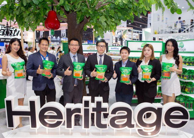 เครือเฮอริเทจ ยกทัพขบวนสินค้าเจาะตลาดกลุ่มคนรักสุขภาพที่มีเวลาน้อยแต่ใส่ใจสุขภาพ  ในงาน THAIFEX – World of Food ASIA 2018