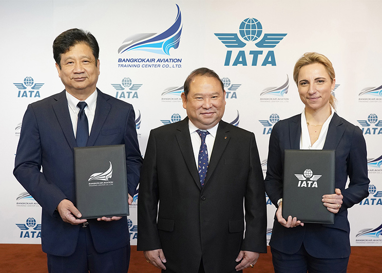 Bangkok Air Aviation Training Center and the International Air Transport Association (IATA) sign partnership to set up IATA Regional Aviation Training Partner in Thailand-Memag-Online
