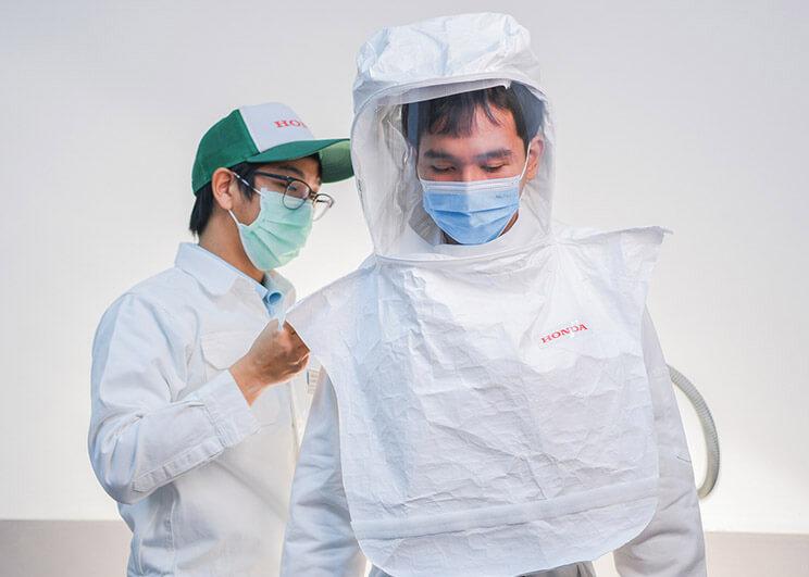 กองทุนฮอนด้าเคียงข้างไทย ร่วมต้านภัยโควิด-19 ระลอกใหม่ ผลิตและบริจาคนวัตกรรมหน้ากากแรงดันลบและบวก 1,000 ชิ้น