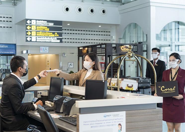 คอรัล เลาจน์ บริการอำนวยความสะดวกผู้โดยสารสนามบินแบบครบวงจร และห้องพักรับรองผู้โดยสาร สนามบินนานาชาติภูเก็ต  พร้อมเปิดต้อนรับผู้โดยสารและนักท่องเที่ยว ภูเก็ตแซนบ็อกซ์ ในวันที่ 1 กรกฎาคม 2564